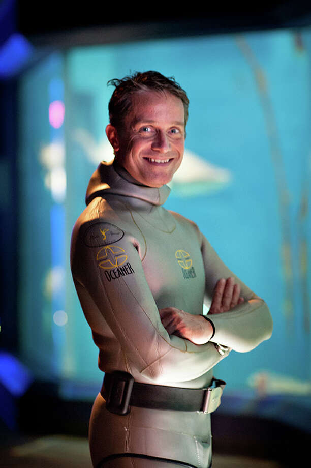 Fabien Cousteau, the third-generation ocean explorer/filmmaker, recently spoke at the Ridgefield Library. Photo: Contributed Photo, Contributed / New Canaan News Contributed