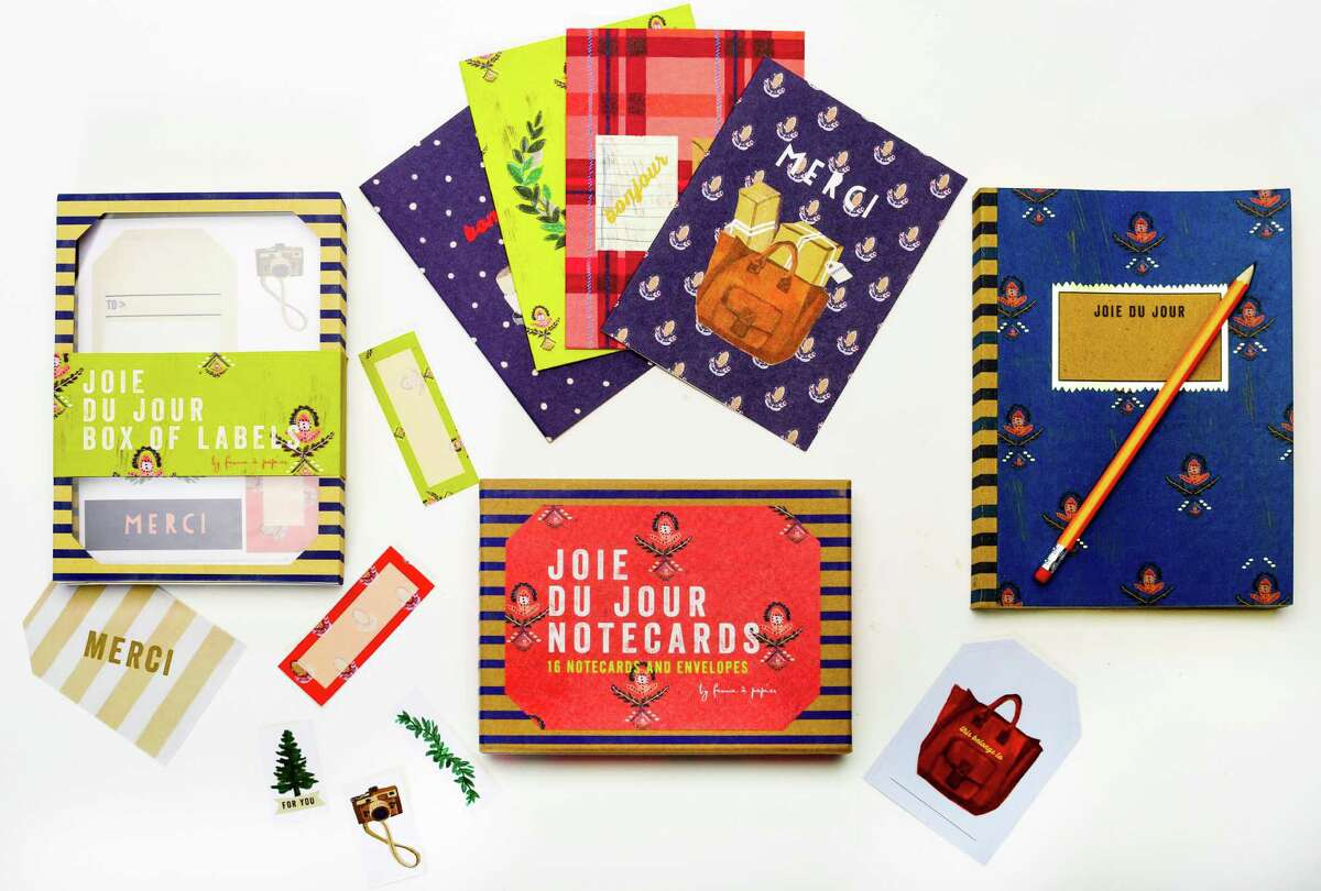 Get an early start start on the holiday planning with Ferme à Papier's new stationery line for Chronicle Books. Joie du Jour notecards, $14.95 for set of 16; journal, $16.95; labels, $16.95. Available locally at Books Inc. stores, www.booksinc.net for locations, and other Chronicle Books retailers.