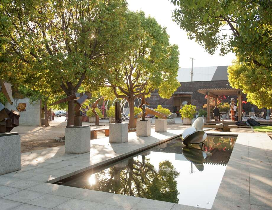 The garden and reflecting pool at Bruce Beasley's West Oakland studio complex will be partof the Oakland Museum of California's future Bruce Beasley Sculpture Center. Photo: Oakland Museum Of California / ONLINE_YES