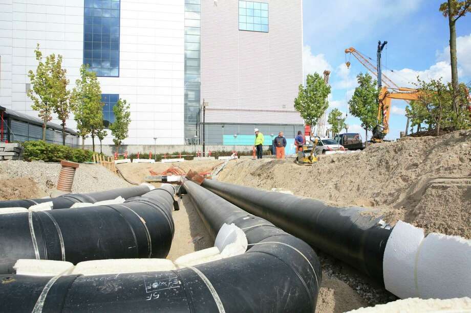 A district energy system, a heating and cooling method made up of a system of underground pipes, is installed in Copenhagen, Denmark. Photo: Contributed Photo, Contributed Photo / Connecticut Post Contributed