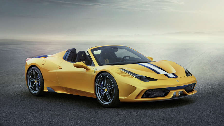 The top draw at Ferrari's stand at the Paris Motor Show is its 458 Speciale A. Photo: Ferrari