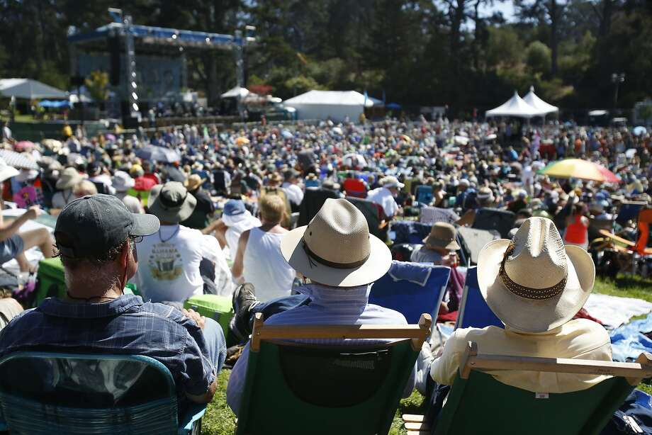 A crowd spreads across the park while listening to Peter Rowan on the opening day of Hardly Strictly Bluegrass last year. Photo: Terray Sylvester, The Chronicle