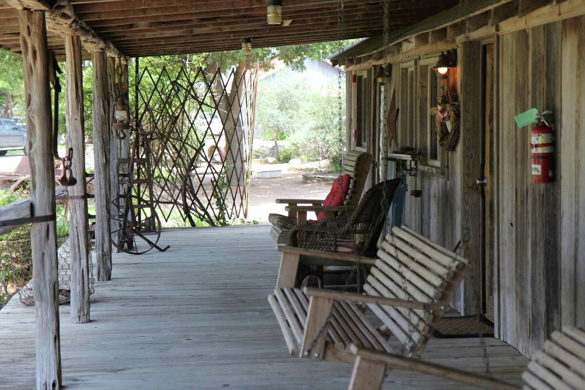 A horse, boots and spurs are all that's needed to complete the frontier ambience at The Farm House.