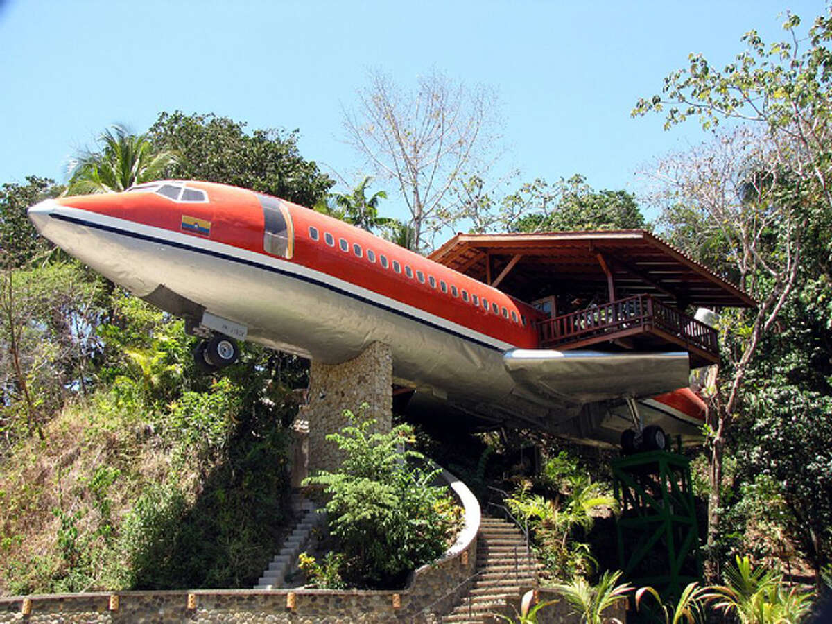 Converted Airplane Location:Puntaneras, Costa Rica Cost per night:Starts at $250 Why we love it:This renovated 727, complete with 2 bedrooms, two bathrooms, and two outdoor patio areas on the wings, is sure to be the most comfortable airplane experience you've ever had. Rent it here Related story: 14 gorgeous camper decorating ideas