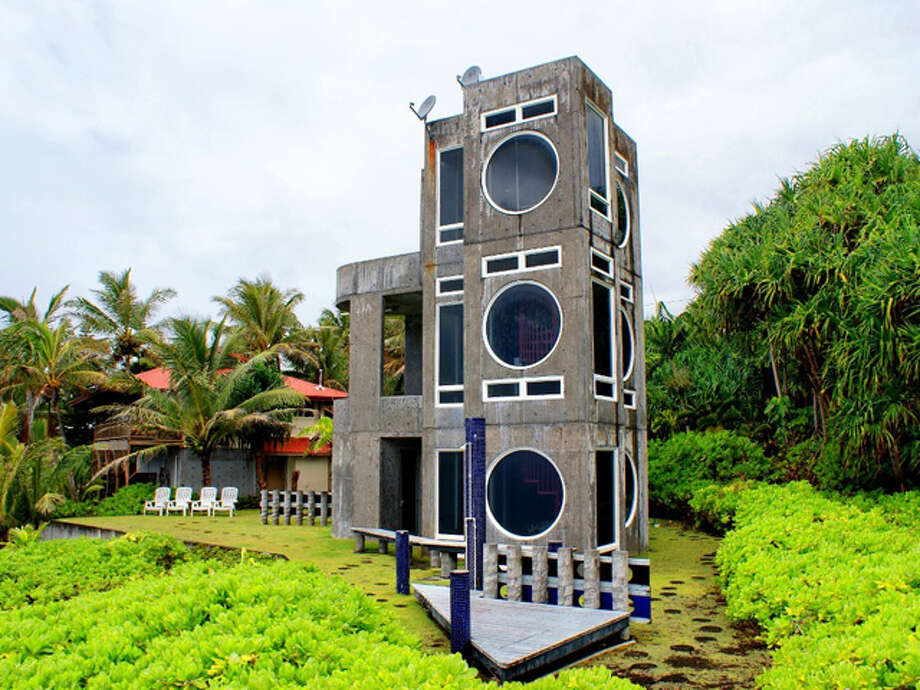 Boombox House  Location:Big Island, Hawaii  Cost per night:Starts at $175   Why we love it:Enjoy the beauty of Hawaii from this unique concrete home, which offers gorgeous views of black sand beaches and the Pacific Ocean from its round speaker-like windows.  Rent it here  Related story: 5 relaxing and affordable spa vacations  Photo: Courtesy Of HomeAway