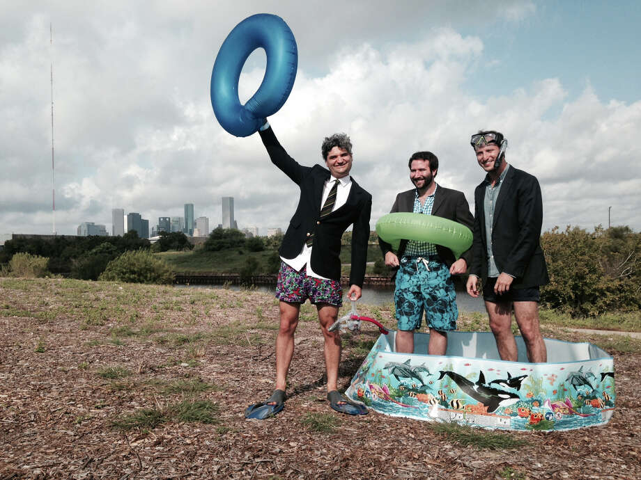 The Houston Needs a Swimming Hole team: Monte Large, Evan O'Neil and Jeff Kaplan. Photo: Melissa Eason