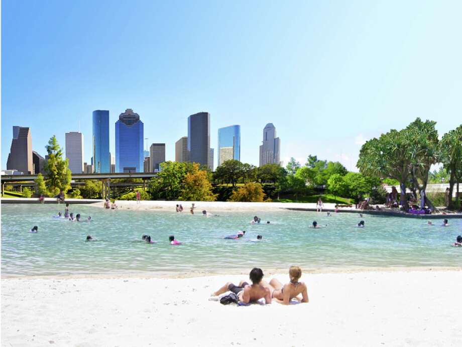 A waterfront city? Image from the website of Houston Needs a Swimming Pool.