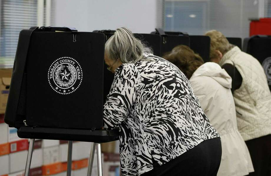 These voters in Saginaw  last year were something of a rarity. Most Texans stay home on election day. Will they do so for elections on May 9? Photo: Fort Worth Star-Telegram File Photo / Fort Worth Star-Telegram