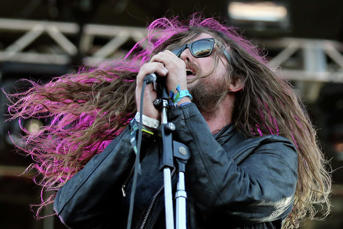 J. Roddy Walston of J. Roddy Walston & The Business performs with the band Friday Oct. 3, 2014 during the Austin City Limits Music Festival at Zilker Park in Austin, Tx.