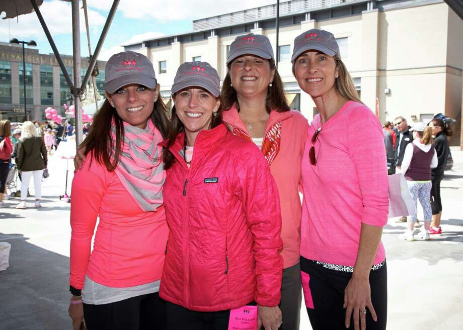 Breast Cancer Alliance Executive Director Yonni Wattenmaker is in the pink, along with 2014 Walk for Hope Co-Chairs: Julie Genovese, Caroline Brecker and Nicole Ewing. Photo: Contributed Photo / Greenwich Time Contributed