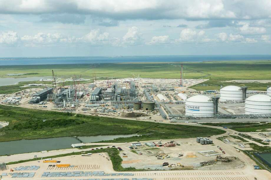 Cheniere Energy's Sabine Pass liquefied natural gas export terminal is nearing completion in Cameron Parish, Louisiana, but falling oil prices are clouding the future of some other proposed export plants. Photo: Cheniere Energy