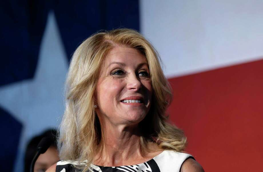 Texas Democratic gubernatorial candidate Wendy Davis presents her new education policy during a stop at Palo Alto College, Tuesday, Aug. 26, 2014, in San Antonio.  Photo: Associated Press / AP