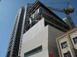 The new wing of the San Francisco Museum of Modern Art as viewed from Howard Street, October 2014.