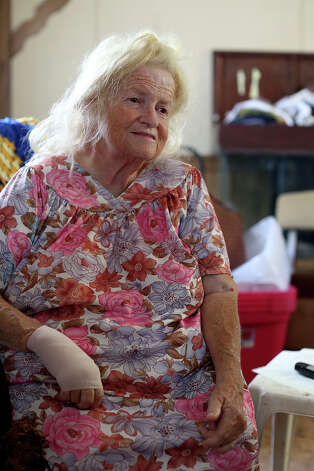Carol Thompson, who is being forced out of Mission Trails mobile home park after living there for 10 years, sits in her trailer on Wednesday, August 27, 2014. Carol and her son plan to move their trailer to Lackland Village next week. Photo: Lisa Krantz / SAN ANTONIO EXPRESS-NEWS