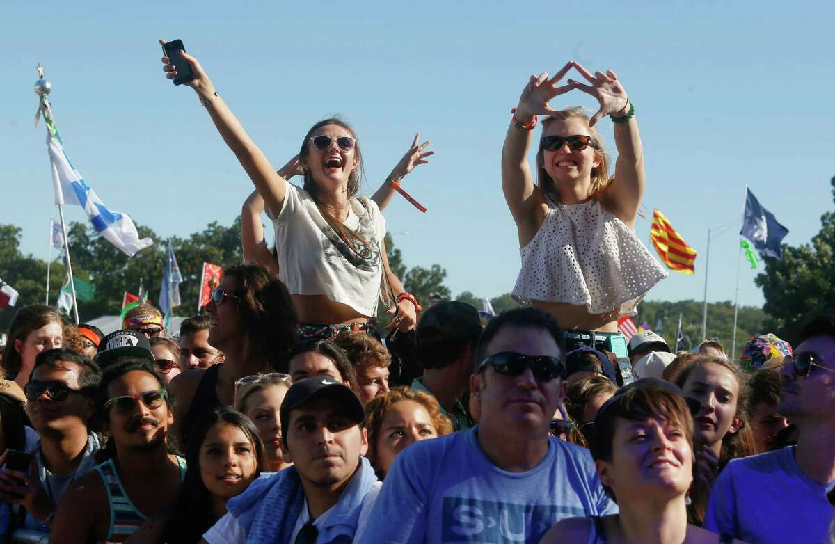 Fans listen to Chvrches perform on the firat day of the Austin City Limits Music Festival on Friday, Oct. 3, 2014, in Austin, Texas.