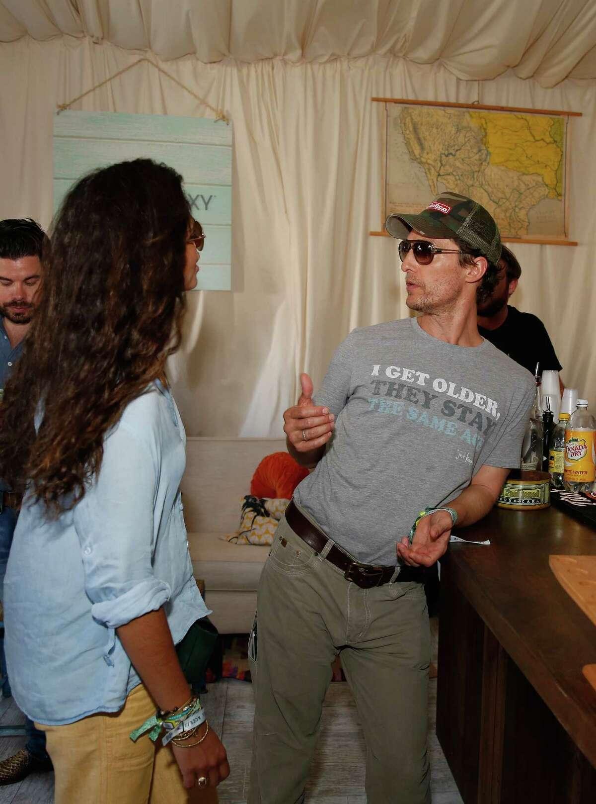 Camila Alves and Matthew McConaughey on Oct. 3