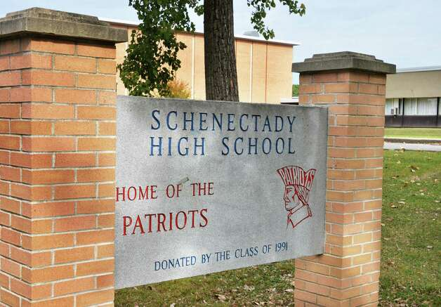 Sign outside Schenectady High School Thursday Sept. 25, 2014, in Schenectady, NY.  (John Carl D'Annibale / Times Union) Photo: John Carl D'Annibale / 00028753A
