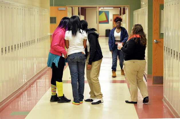Students in the hallways at Schenectady High School Thursday Sept. 25, 2014, in Schenectady, NY.  (John Carl D'Annibale / Times Union) Photo: John Carl D'Annibale / 00028753A