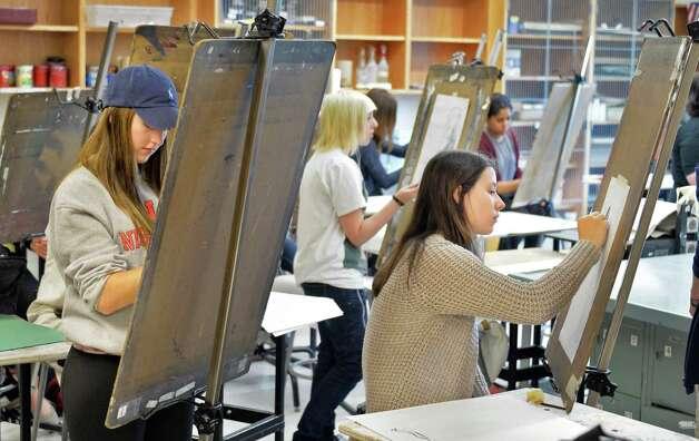 Students in an advanced art class at Niskayuna High School Friday Sept. 26, 2014, in Niskayuna, NY.  (John Carl D'Annibale / Times Union) Photo: John Carl D'Annibale / 00028756A