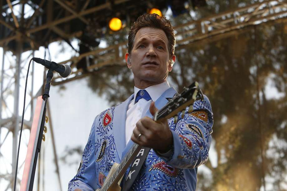 Chris Isaak played on the second day of the Hardly Strictly Bluegrass Festival on Saturday, October 4, 2014, in San Francisco's Golden Gate Park. The free festival continues through Sunday. Photo: Terray Sylvester, The Chronicle