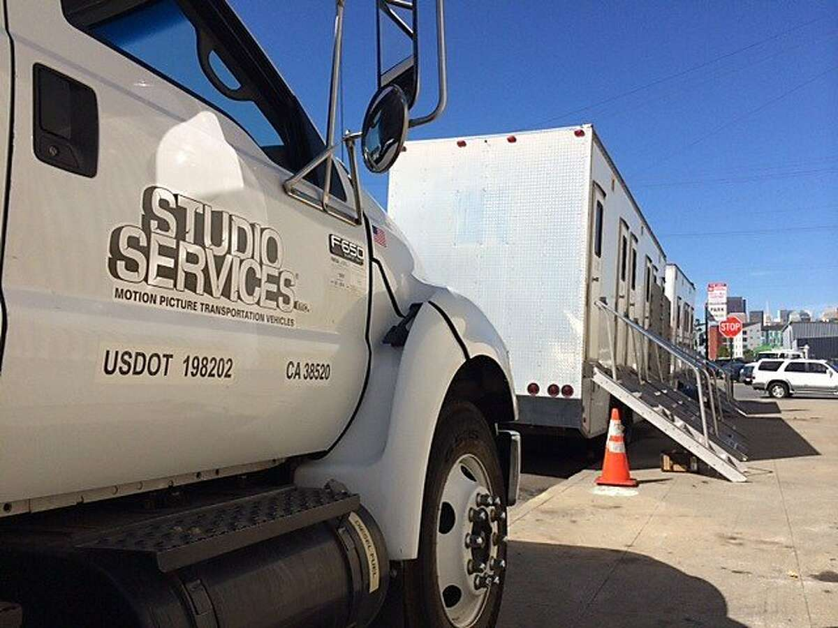 Productions crews filming HBO TV series