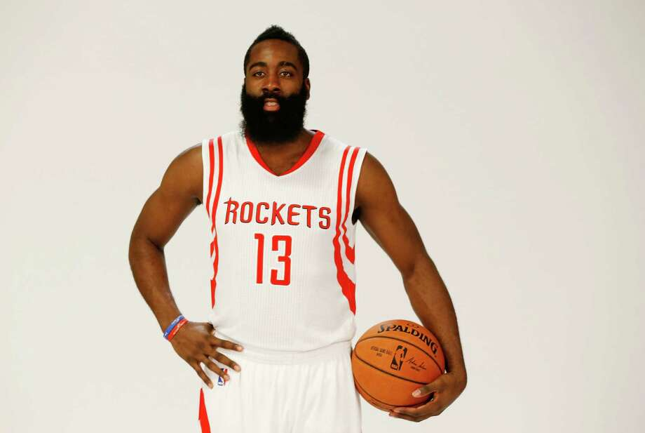 HOUSTON, TX - SEPTEMBER 29:  James Harden #13 of the Houston Rockets poses at the Rockets Media Day at the Toyota Center on September 29, 2014 in Houston, Texas.  (Photo by Scott Halleran/Getty Images) Photo: Scott Halleran, Staff / 2014 Getty Images