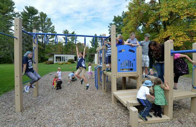 Students are at recess and using the jungle gym at the Bethlehem Children's School Monday afternoon Sept. 29, 2014 in Bethlehem, N.Y.   The school will be celebrating it's twentieth year of operation later this month.     (Skip Dickstein/Times Union) Photo: SKIP DICKSTEIN / 10028804A