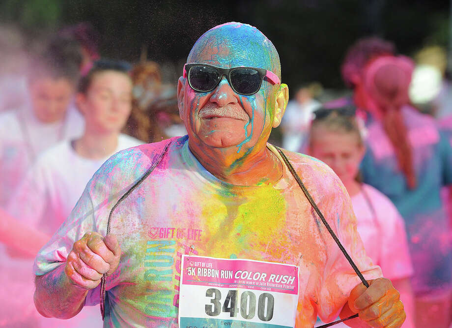 """It's time to lace up for the Julie Richardson Procter 5K Ribbon Run Color Rush, benefiting the Julie Rogers """"Gift of Life"""" Program. The run starts at 8 a.m. Saturday at Beaumont City Hall, 801 Main St. Packet pick-up goes from 9 a.m.-7 p.m. Tuesday through Thursday at the Beaumont Civic Center, 701 Main St. giftoflifebmt.org. Guiseppe Barranco/The Enterprise Photo: Guiseppe Barranco, Photo Editor"""