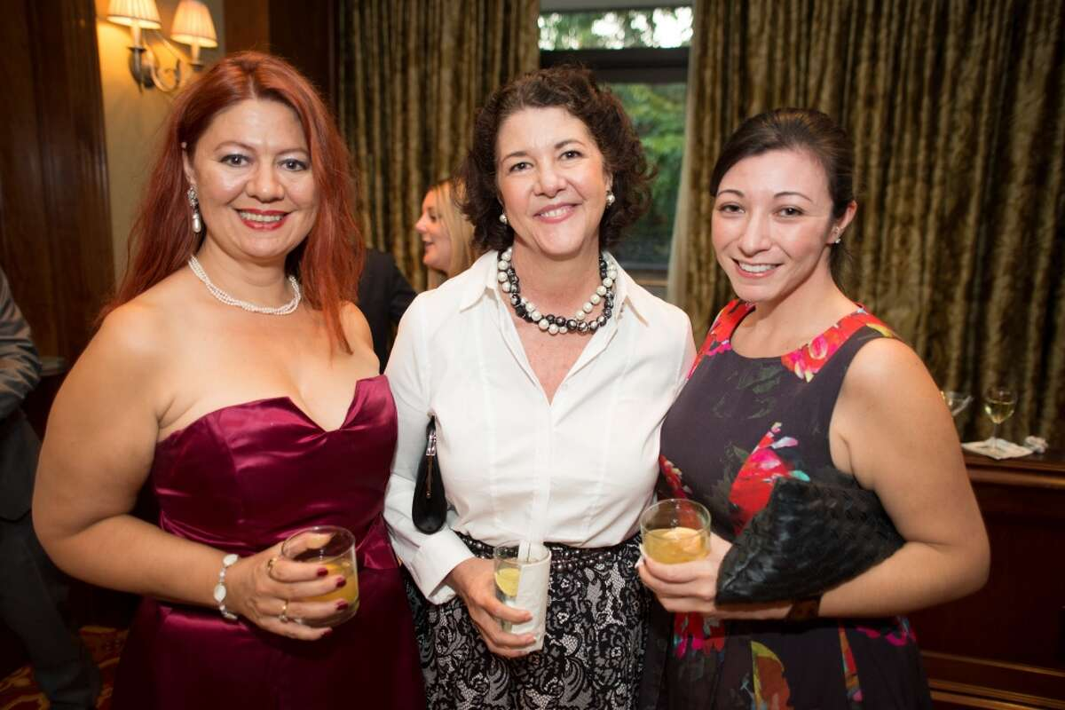 Phaedra Cook, Tracy Vaught and Allison Matsu during the Houston Culinary Awards gala hosted by My Table magazine at the Houstonian hotel on Sunday, October 5th, 2014.