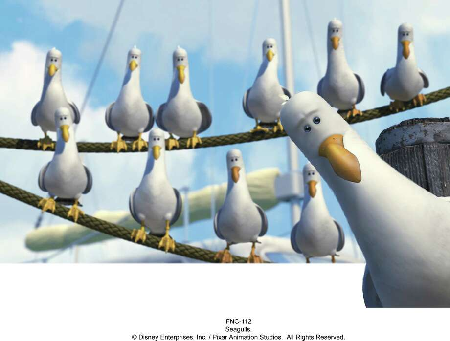 "``FINDING NEMO'' - seagulls from ""Finding Nemo.""     HOUCHRON CAPTION (06/02/2003):  If the seagulls in ""Finding Nemo"" look dazed, it's because of the film's blockbuster opening weekend. The film deluged the competition with a record-setting $70.6 million. / handout email"