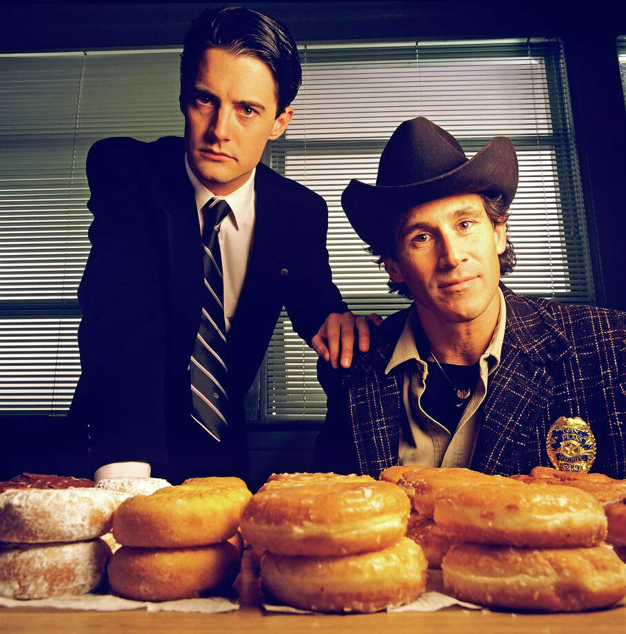 The original: Homecoming queen Laura Palmer is found dead, washed up on a riverbank wrapped in plastic sheeting. FBI Special Agent Dale Cooper (Kyle MacLaughlin, left) is called in to work with local Sheriff Harry S.Truman (Michael Ontkean) in the investigation of the gruesome murder in the small Northwestern town of Twin Peaks.  Photo: ABC Photo Archives, File Photo / American Broadcasting Companies, Inc.