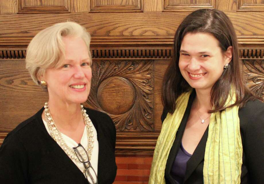 Martha Lord, left, is stepping down as executive director of the Pequot Library. Heather-Marie Montilla, right, has been hired by the library's board of trustees to fill the position. Photo: Contributed Photo /  Fairfield Citizen contributed