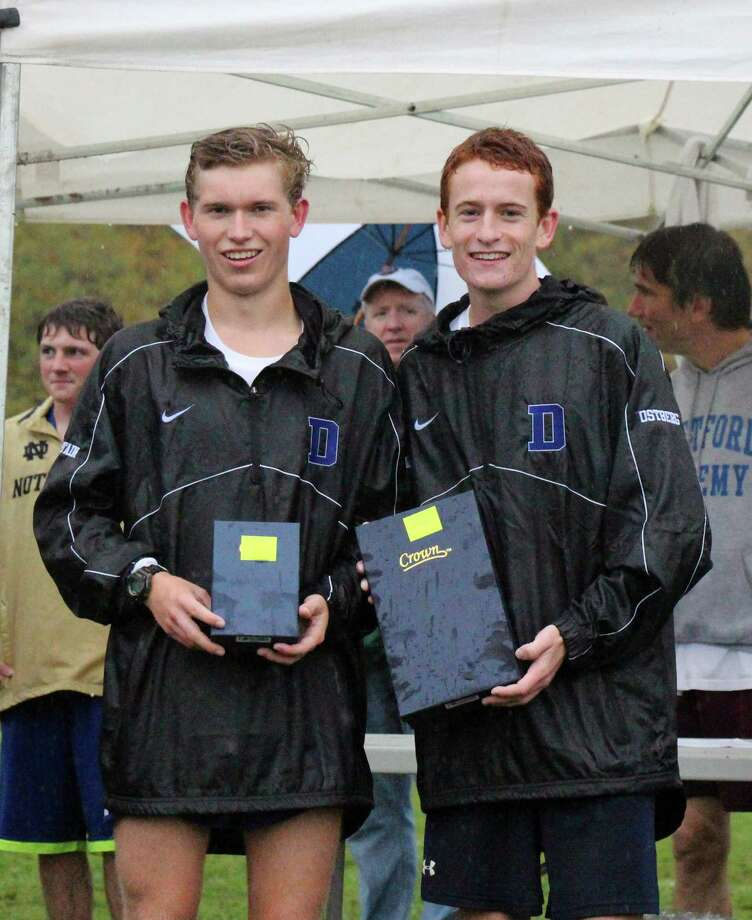 Darien's Alex Ostberg, right, and Armstrong Noonan, left, of Darien. Photo: Contributed / Darien News Contributed
