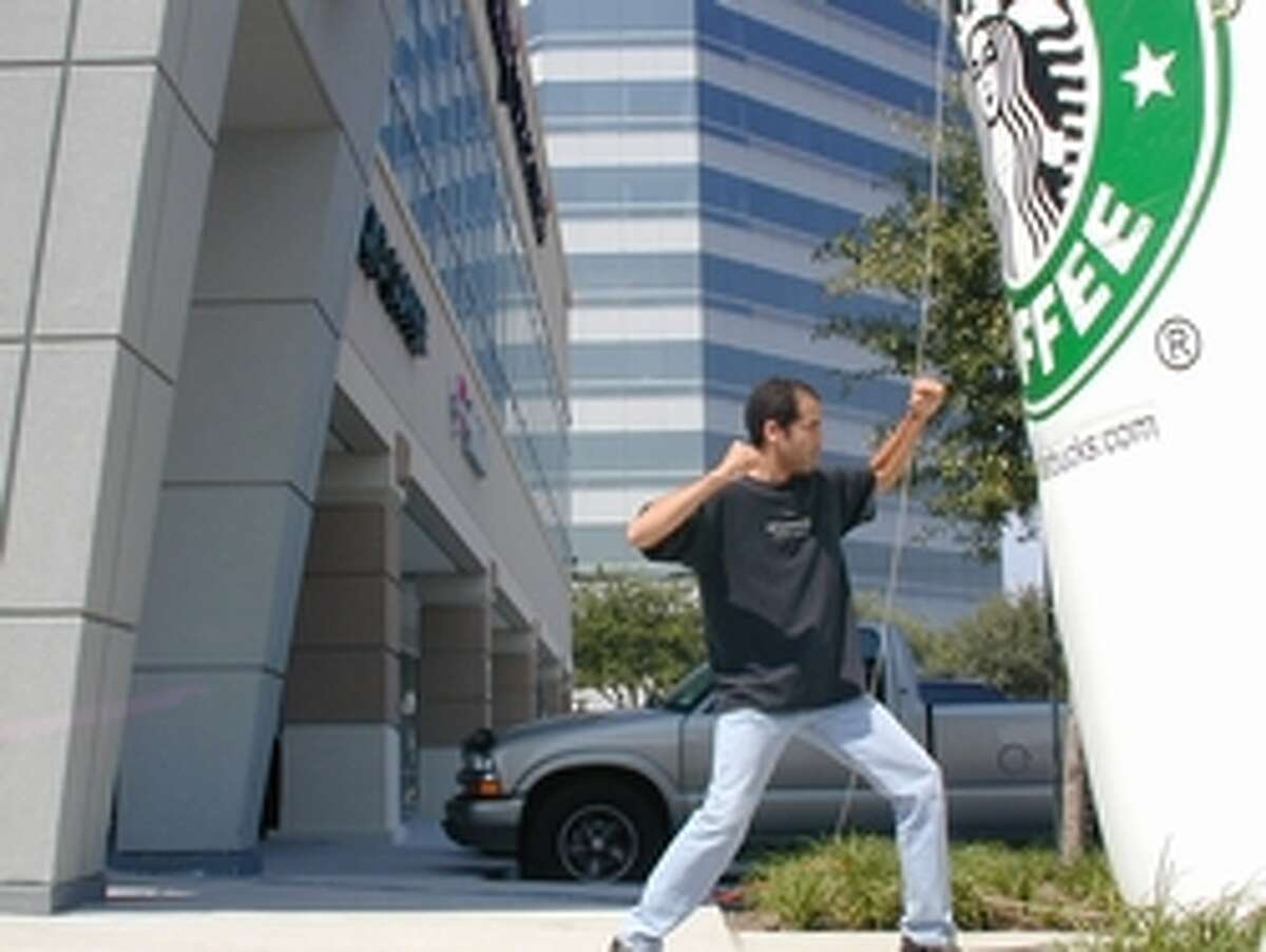 The Houston native has spent 17 years and $100,000 trying to visit every Starbucks in the world. Here he is at the store at I-10 & Memorial City Way.Photos: Check out just some of the Starbucks he has visited in the past 17 years from around the world ...