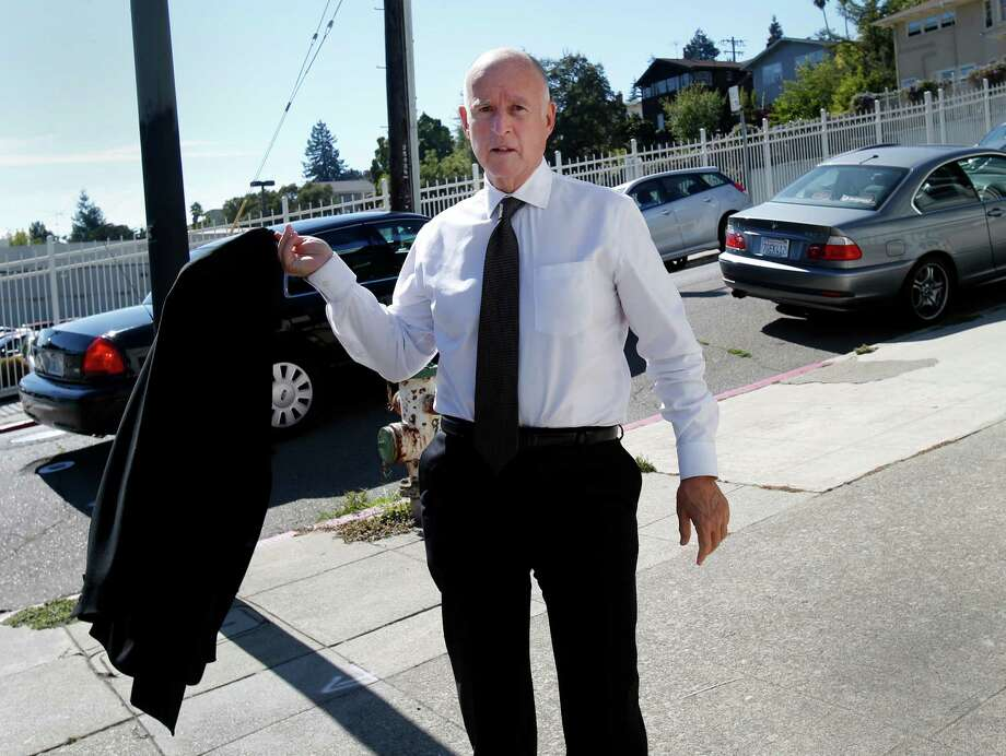 Gov. Jerry Brown in Oakland earlier this month. Photo: Brant Ward / Brant Ward / The Chronicle / ONLINE_YES