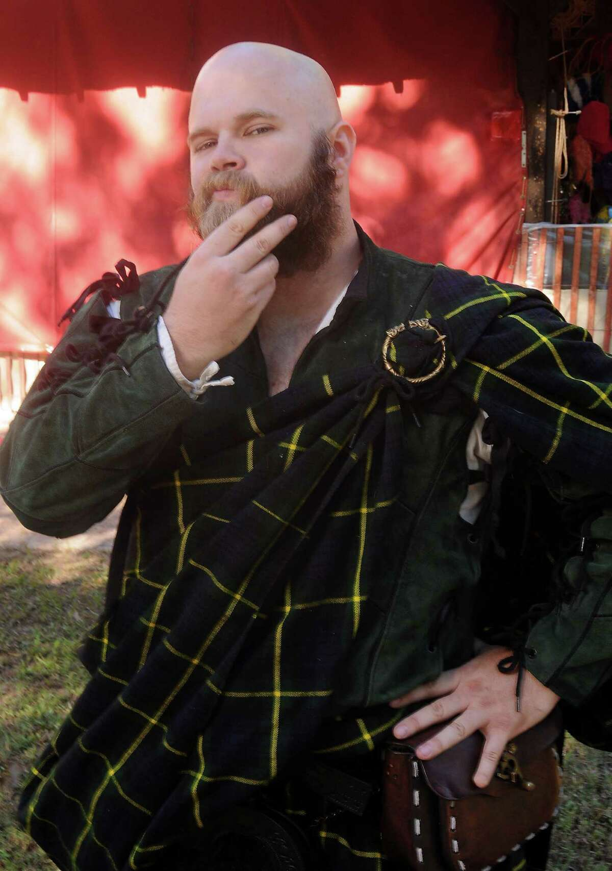"""Braveheart? The name """"Brave Heart"""" actually applied to the other Scots hero, Robert the Bruce (seen here depicted at the 2014 Renaissance Faire). Bruce's heart was carried into battle after his death."""
