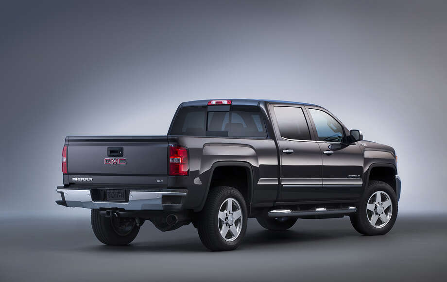 10. 2015 GMC Sierra 2500 Horesepower @ RPM: 360 @ 5400Torque @ RPM: 380 @ 42006-Speed Automatic TransmissionFuel Type: Gas/Ethanol V8Source: GMC Photo: Vanderkaay/GMC, General Motors