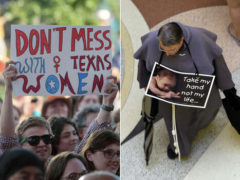 The debate over abortion has been a contentious one in Texas. See photos from the abortion fight in the Lone Star State. Photo: Houston Chronicle/Associated Press Photos