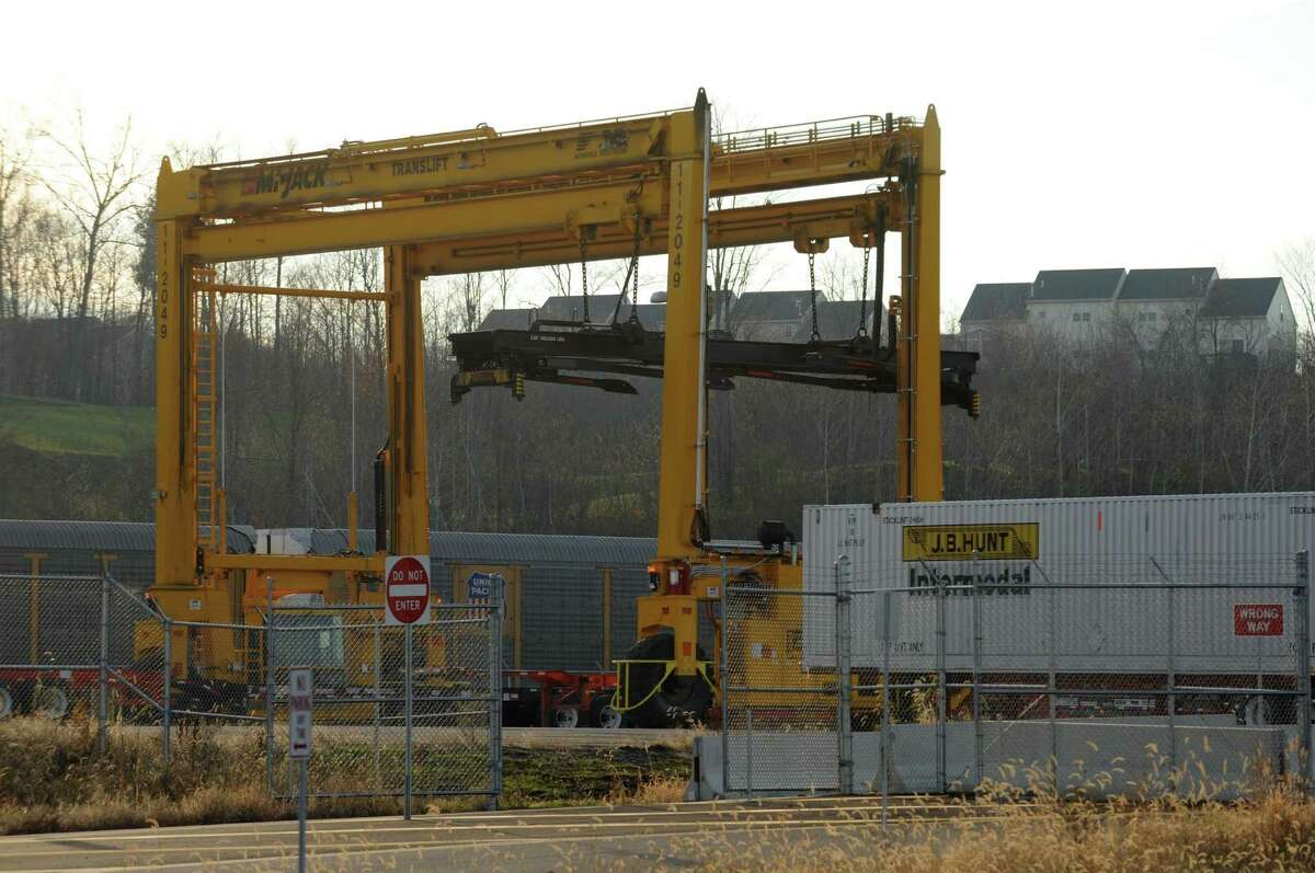 The intermodal rail yard in Mechanicville, N.Y. (Times Union archive)
