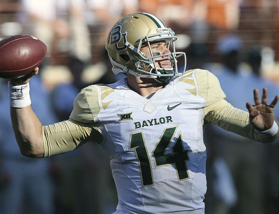 Baylor quarterback Bryce Petty threw for just 111 yards, a career low, in Saturday's 28-7 road victory over Texas in Austin. Photo: Tom Reel / San Antonio Express-News