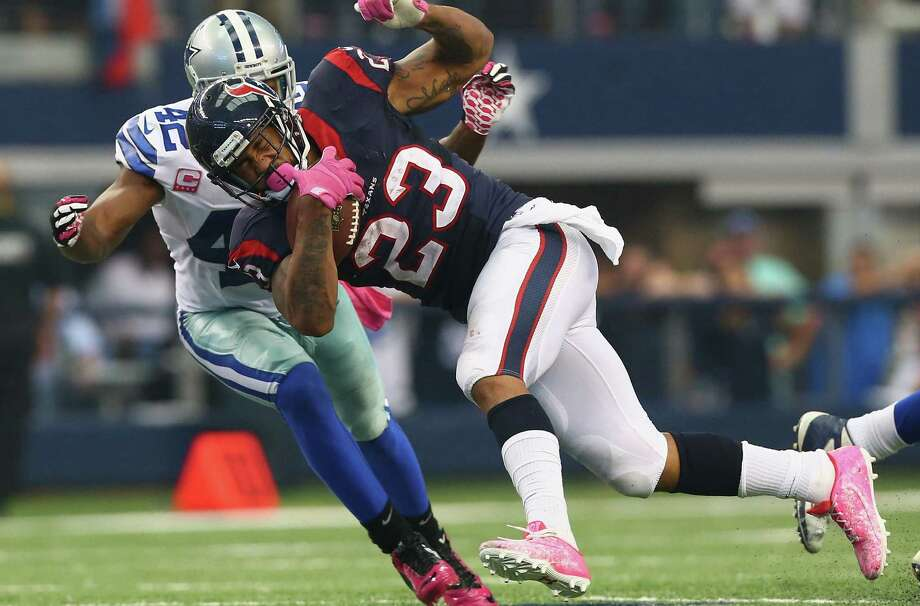 Texans running back Arian Foster, coming off a season-high 157 yards rushing in an OT loss to Barry Church and the Cowboys, says nobody is ready to play Thursday after a Sunday game. Photo: Ronald Martinez / Getty Images / 2014 Getty Images