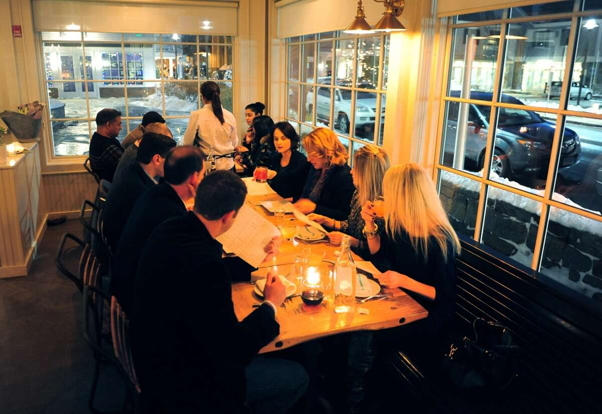Area residents dine at The Whelk restaurant on Riverside Drive in Westport, Conn. on Saturday January 4, 2014. Chef Geoff Lazlo previously worked as The Whelk's executive chef.