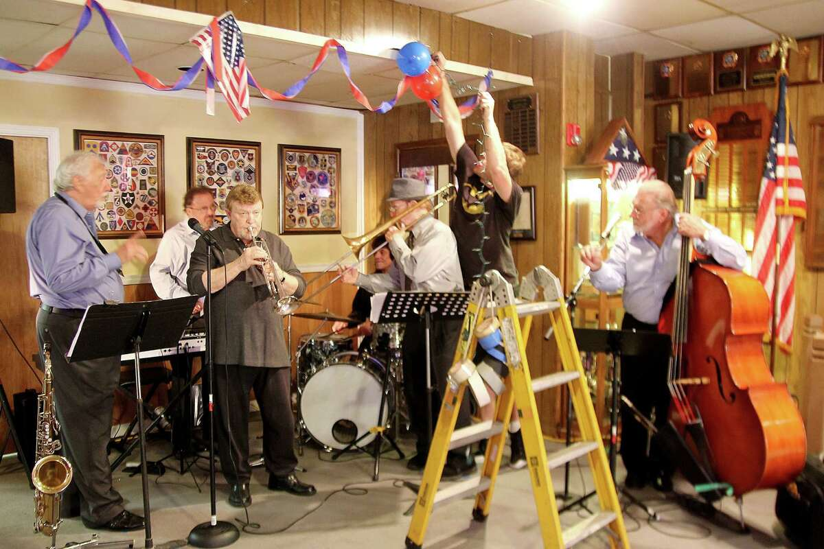 The Hi Bice Band rehearses tunes at VFW Pearland Memorial Post 7109 before shooting started for a scene for the movie