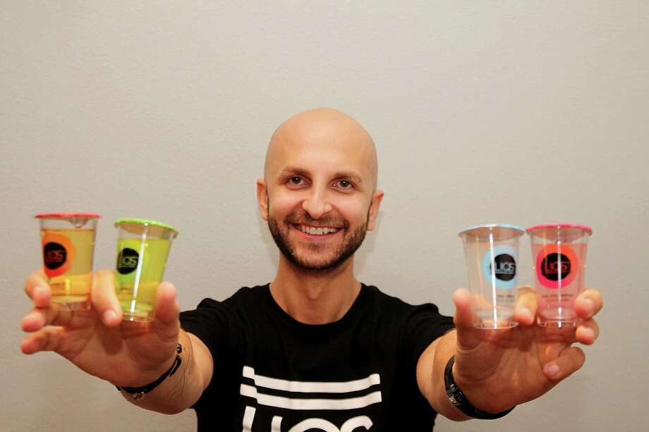 "Harley Bauer, co-founder of LIQS cocktail drinks, says Houston has plenty of potential customers for his  products - young professionals who ""like to have a good time, but they want a better-quality product."" Photo: Pin Lim, Freelance / Copyright Pin Lim."
