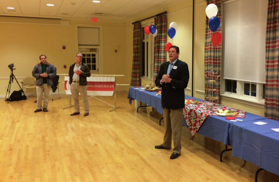 Republican Tom O'Dea, a New Canaan attorney and former member of the Town Council, speaks at a Republican Town Committee forum Monday night, Oct. 6, 2014, at Lapham Community Center, New Canaan, Conn. O'Dea is running for reelection this year to represent New Canaan and Wilton in the 125th General Assembly District. Photo: Contributed Photo, Contributed / New Canaan News Contributed