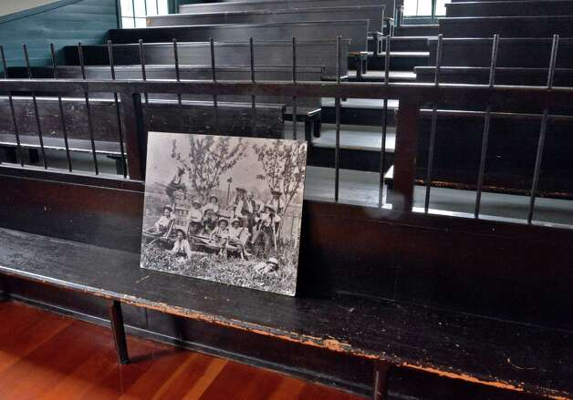Benches inside the Meeting House at the Shaker Heritage Society Saturday Oct. 4, 2014, in Colonie, NY.  (John Carl D'Annibale / Times Union) Photo: John Carl D'Annibale / 10028895A