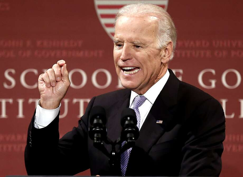 In this Thursday, Oct. 2, 2014 file photo, Vice President Joe Biden speaks to students, faculty and staff at Harvard University in Cambridge, Mass. Photo: Winslow Townson, Associated Press
