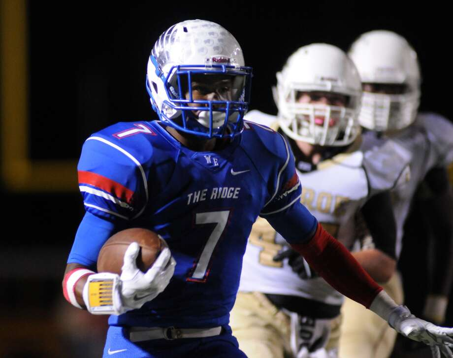 Oak Ridge junior wide receiver Lamar Handy outruns the Conroe defense in the War Eagles' dominating win last week at Woodforest Stadium. Photo: Jerry Baker, Freelance