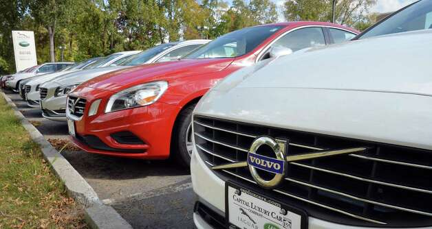 A row of S 60's at Capital Volvo of Albany Tuesday Oct. 7, 2014, in Albany, NY.  (John Carl D'Annibale / Times Union) Photo: John Carl D'Annibale / 10028918A