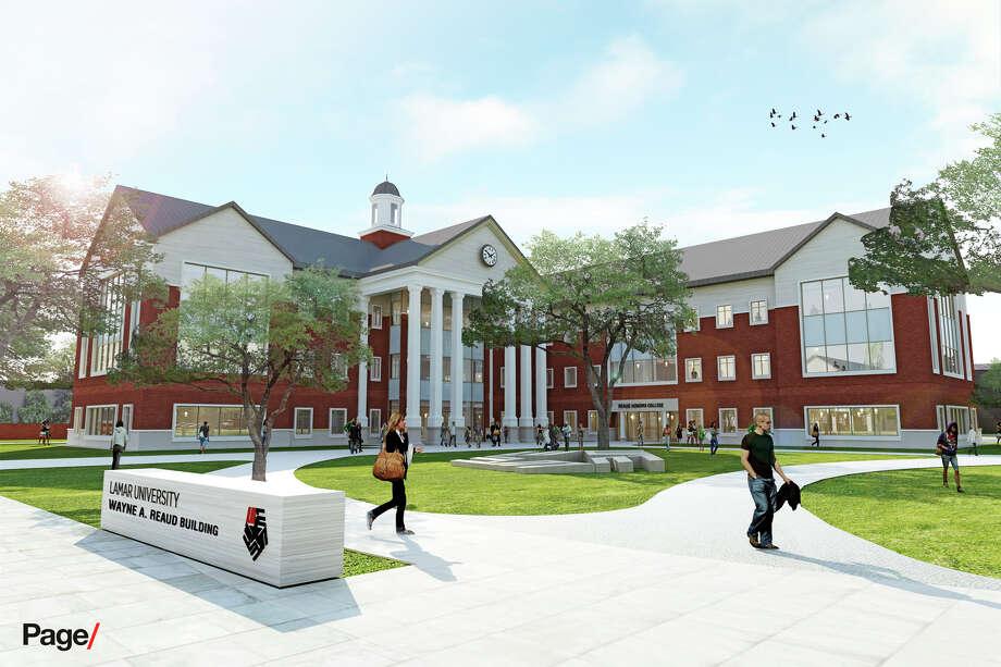 An artist rendering of the new Lamar University administration building. Photo: Lamar University